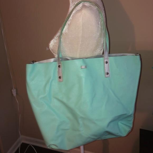 New York & Company Handbags - NY&CO | Reversible Mint & Silver Tote